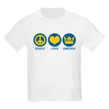 Peace Love Sweden T-Shirt