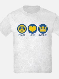 Peace Love Sweden T-Shirt