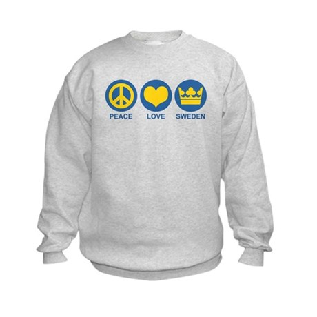 Peace Love Sweden Kids Sweatshirt