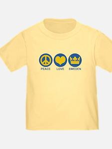 Peace Love Sweden T