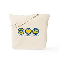 Peace Love Sweden Tote Bag