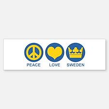 Peace Love Sweden Bumper Bumper Sticker