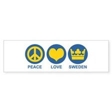 Peace Love Sweden Bumper Sticker
