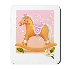 Palomino in Pink Rocking Horse Mousepad