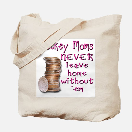 Quarter Stash for Hockey Moms Tote Bag