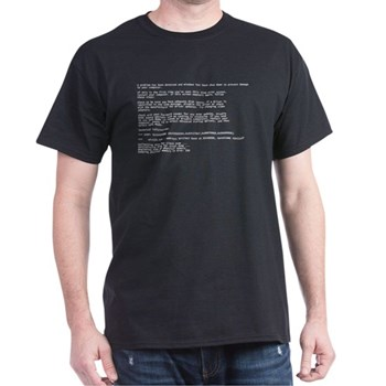 Blue Screen of Death (BSOD) T-Shirt | Gifts For A Geek | Geek T-Shirts