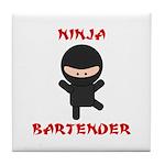 Ninja Bartender Plain Tile Coaster
