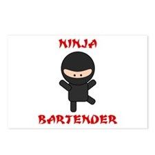 Ninja Bartender Plain Postcards (Package of 8)