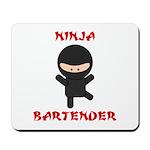 Ninja Bartender Plain Mousepad
