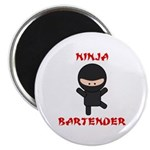 Ninja Bartender Plain Magnet
