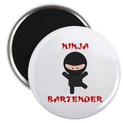 """Ninja Bartender Plain 2.25"""" Magnet (100 pack)"""