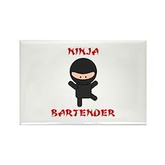 Ninja Bartender Plain Rectangle Magnet (100 pack)