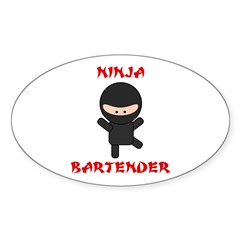 Ninja Bartender Plain Decal