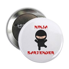 "Ninja Bartender Plain 2.25"" Button"
