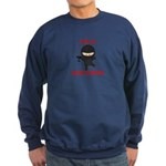 Ninja Bartender with Martini Sweatshirt (dark)