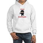 Ninja Bartender with Martini Hooded Sweatshirt
