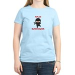 Ninja Bartender with Martini Women's Light T-Shirt