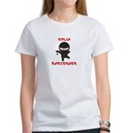 Ninja Bartender with Martini Women's T-Shirt