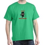 Ninja Bartender with Martini Dark T-Shirt