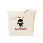 Ninja Bartender with Martini Tote Bag