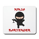 Ninja Bartender with Martini Mousepad