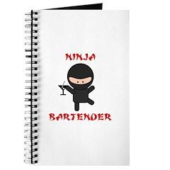 Ninja Bartender with Martini Journal
