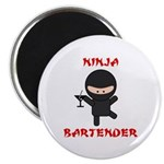 "Ninja Bartender with Martini 2.25"" Magnet (10 pack"