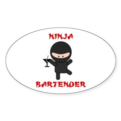 Ninja Bartender with Martini Decal