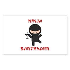 Ninja Bartender with Martini Decal