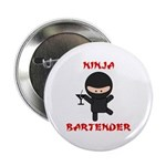 "Ninja Bartender with Martini 2.25"" Button"