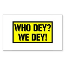 Who dey? We dey! Rectangle Decal