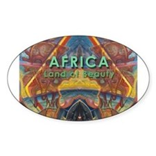 Africa.3 Land of Beauty Oval Decal