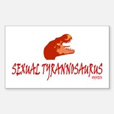 NinjaTeeth Sexual TRex Sticker (Rectangle)