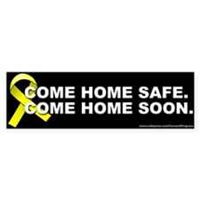 Yellow ribbon: Come home safe. Come home soon.