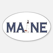 Maine Lighthouse Sticker (Oval)