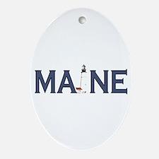 Maine Lighthouse Ornament (Oval)