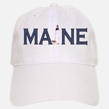 Maine Lighthouse Baseball Baseball Cap