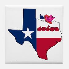 ILY Texas Tile Coaster