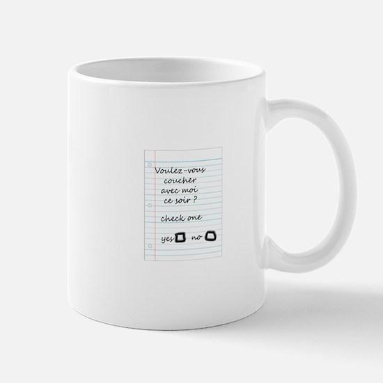 Want to Sleep With Me Tonight? Mug