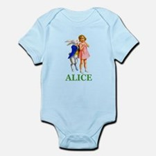 ALICE & THE WHITE RABBIT Infant Bodysuit