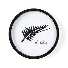 New Zealand (Fern) Wall Clock