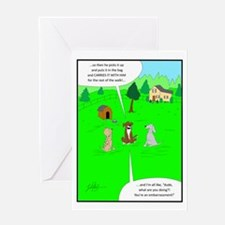 After the dog walk Greeting Cards
