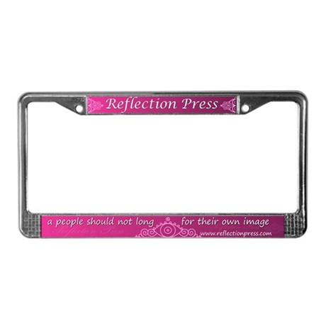 Reflection Press License Plate Frame