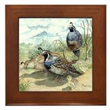 Decorative quail Framed Tiles