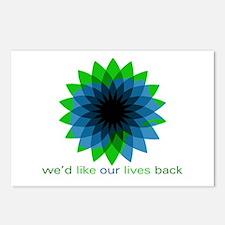 We'd Like Our Lives Back Postcards (Package o