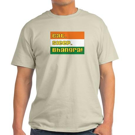 Eat Sleep Bhangra Ash Grey T-Shirt