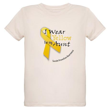 Yellow for Aunt Organic Kids T-Shirt
