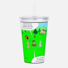 After the dog walk Acrylic Double-wall Tumbler