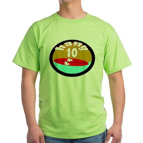 HANG TEN SURFING SHIRT TEE Green T-Shirt