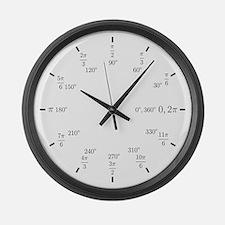 Trigonometry (Rad/Deg) Large Wall Clock